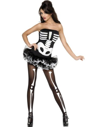 Smiffy's Women's Fever Sexy Skeleton Costume