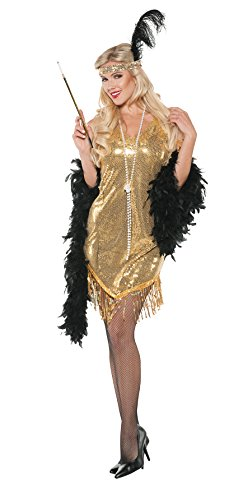 Adult Sexy Swingin Red Flapper Costume