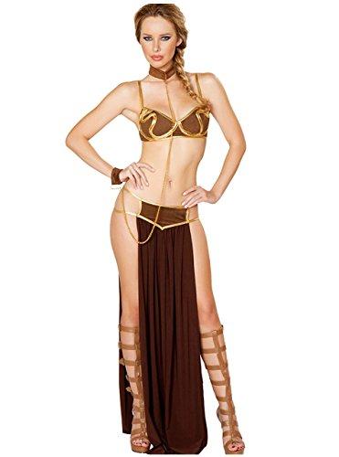 Tankoo Women's Sexy Princess Leia Slave Costume Halloween Miss Manners Uniform