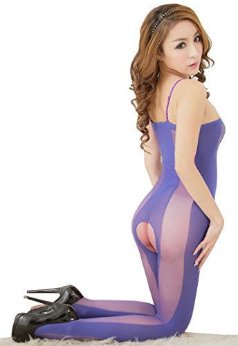 Women Hollowed Fishnet Crotchless Bodystocking Pantyhose Stockings Lingerie