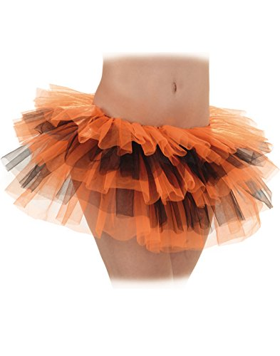 Underwraps Orange Black Womens Ballet Dance Tutu Petticoat-OS One Size