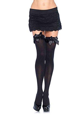 Leg Avenue Women's Ruffle Bow Thigh Highs