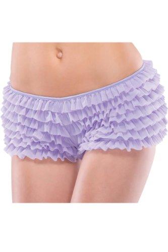 Full Figure Lingerie Plus Size Ruffle Lilac Boyshort Panties – Fits Size 18-22