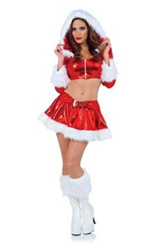 Underwraps Women's Sexy Vixen Santa Claus Costume Outift