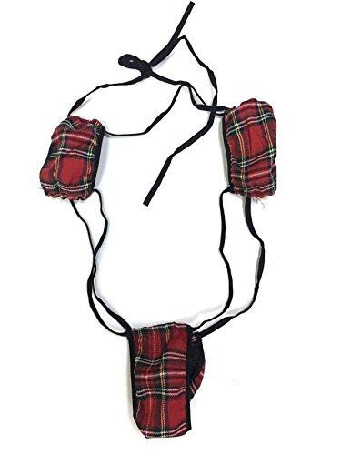 Amoretu Womens Lingerie Backless Teddy Trikini Bodysuits Red