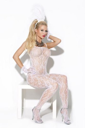Vivace EM-8596, Lace bodystocking. O/S White