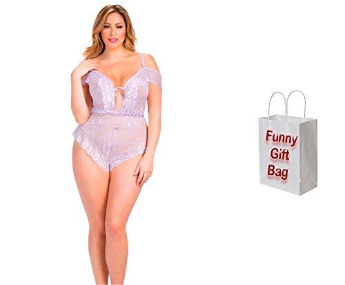 Bundle of Oh la la Cheri Aline Teddy 4X Lilac with Giftbag Model 15