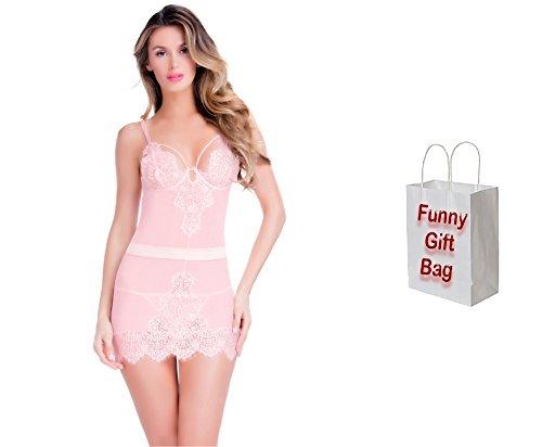 Bundle of Oh la la Cheri Eyelash Babydoll Set X-Large Pink with Giftbag Model 92