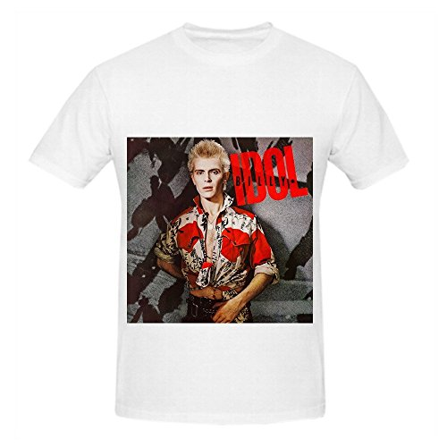 Billy Idol Billy Idol Tour Soundtrack Mens Crew Neck Cool Shirt White