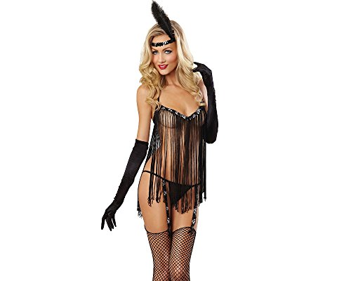 Black Flow Yarn Lingerie Perspective Sexy Nightgown Lady's Temptation skirt