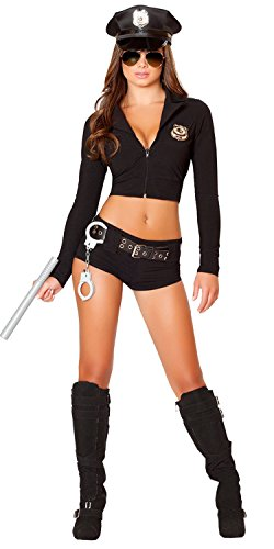 Honanda Women Girl Sexy Police Uniform Funny Cop office Costume for Cosplay Lingerie Halloween
