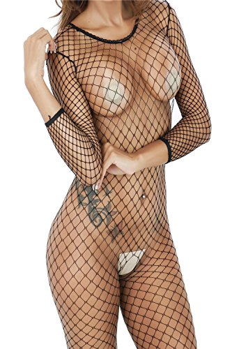 Yeoubi Transparent Mesh Stockings Fashion Beautiful Women's Lingerie Babydoll Transparent Mesh Stockings Sleepwear