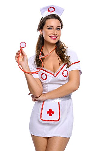 Papaya Wear Women's Head Nurse Costume Uniforme Lingerie