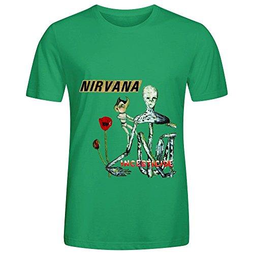 Nirvana Incesticide Tour 80s Mens O Neck Custom Shirt Green