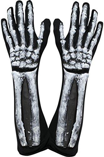 Kangaroo's Halloween Accessories – Deluxe Skeleton Gloves