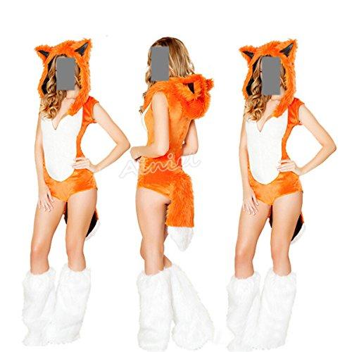Ainiel Animal Fancy Sexy Halloween Cosplay Costume Dress