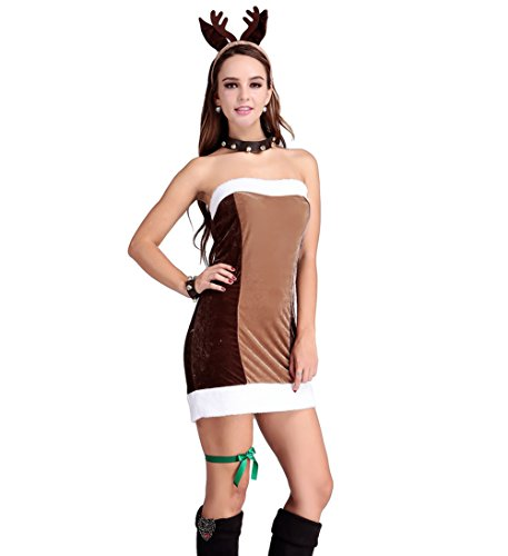Papaya Wear Women's Reindeer Games Dress Christmas Costume