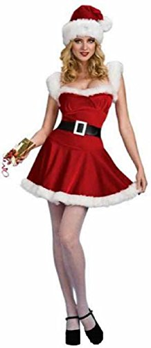 Underwraps Women's Christmas Jingle Sexy Santa Claus Costume Outfit