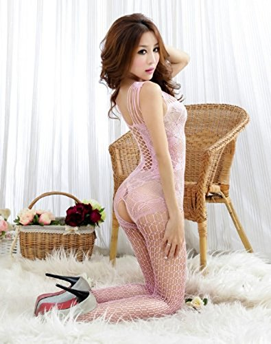 ACEFAST INC Sexy Lingerie Women Intimate Fishnet Bodystocking Dress Erotic Stripper Sleep Dress