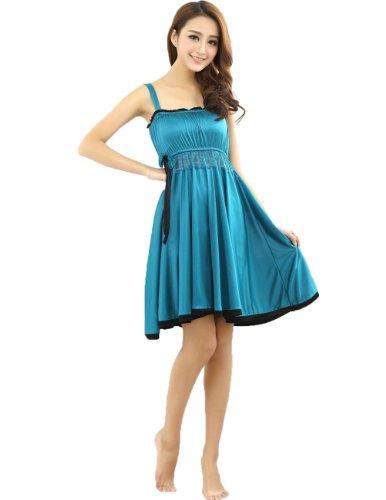 Sexy Womens Ice Silk Babydoll Sleepwear Charming Lingerie Mini Dress