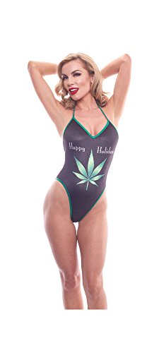 BodyZone Apparel Holiday Happy Holidaze Print Exotic Teddie Lingerie.