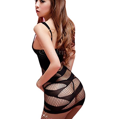ACEFAST INC Sexy Lingerie Women Intimate Fishnet Bodystocking Dress Erotic Stripper Sleep Dress