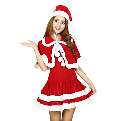 Santa Claus Costume For Women, Mrs Santa Suit Christmas Sexy Fancy Women's Party Dress Holiday Costumes