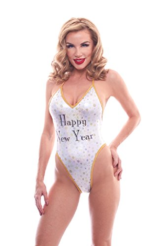 BodyZone Apparel Women's Happy New Year Champagne Bubbles Lingerie Teddie.