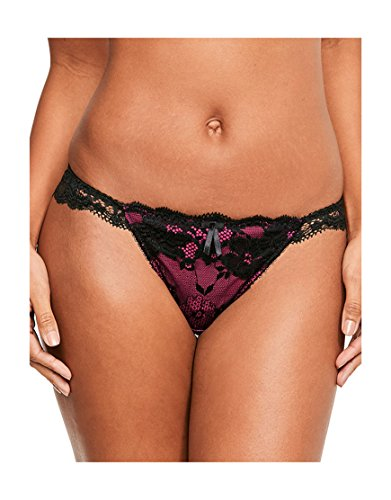 Pour Moi? Womens Amour Brazilian Brief Size 16 In Pink Black/Fushia 12