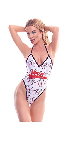 BodyZone Apparel Women's Love Collection Happy Valentines Print Lingerie Teddie.