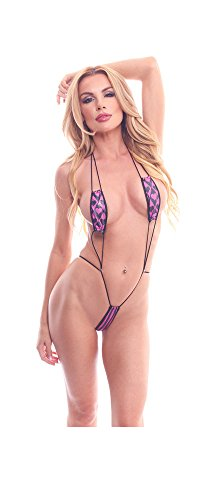BodyZone Women's Apparel Love Collection Harlequin hearts Print Teeny Weeny Teddy Lingerie.
