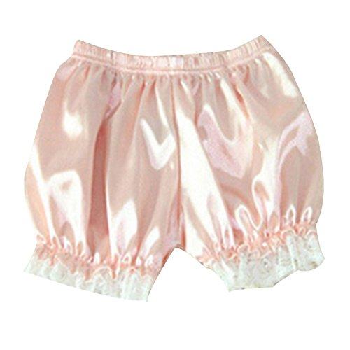 Women Candy Lace Pants Pumpkin Pyjama Pants Shorts Underwear Leggings (Pink, Free Size)
