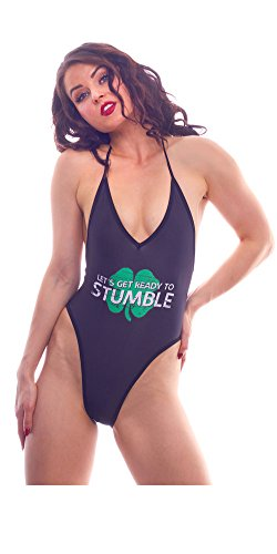 BodyZone Apparel Women's Lucky Collection Stumble Print Lingerie Teddie.