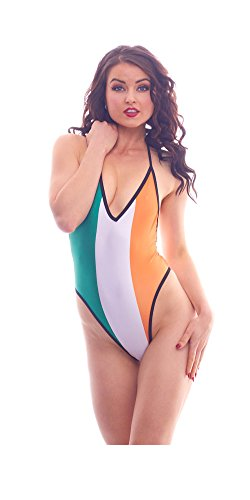 BodyZone Apparel Women's Lucky Collection Flag Print Lingerie Teddie.