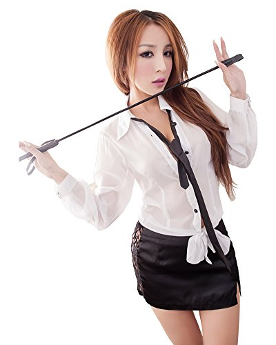 Lingeriecats Sexy Haughty Office Secretary Costume Black/White One Size fits Most