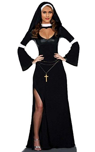 Sexy Nun Costume – Naughty Halloween Fancy Nun Dress Costume for Women