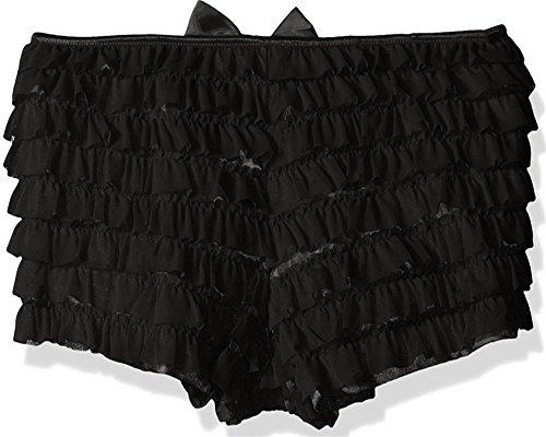 Daisy Corsets Mesh Ruffle Panty w/Bow 3X Black