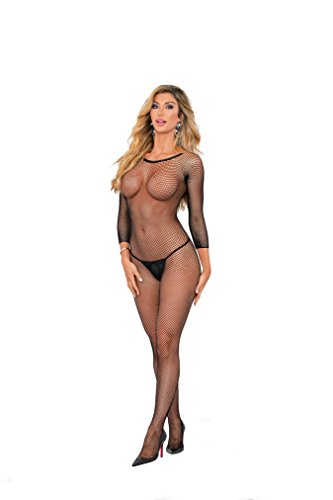 Escante Fishnet Body Hose Blk/One Size
