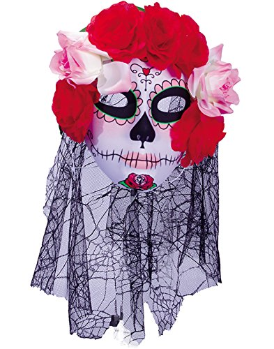 Underwraps Women's Day of The Dead Mask with Veil