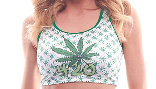 BODYZONE Apparel Women's 420 Collection High Times Pot-Pourri Print Crop Top.