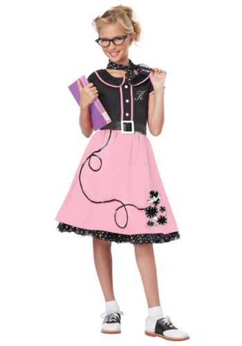 Big Girls' Pink 50's Sweetheart Costume – 2XL