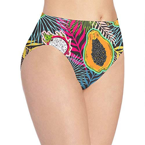 Women's Pitaya, Papaya Hipster Panties Seamless Low-Rise Panty Soft Stretch Bikini Underwear