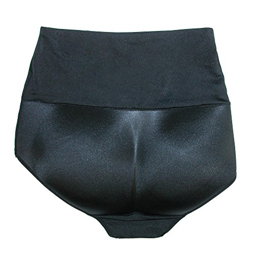 Rene ROFE Women's High Waisted Bottom Booster Underwear, XL, Black