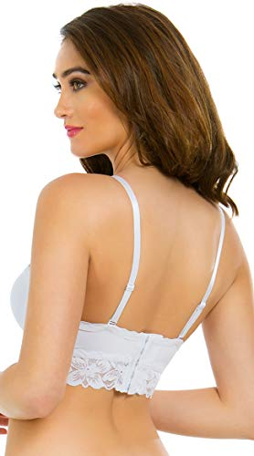 Yandy White Multi-Way Hidden Agenda Longline Bra White 36C