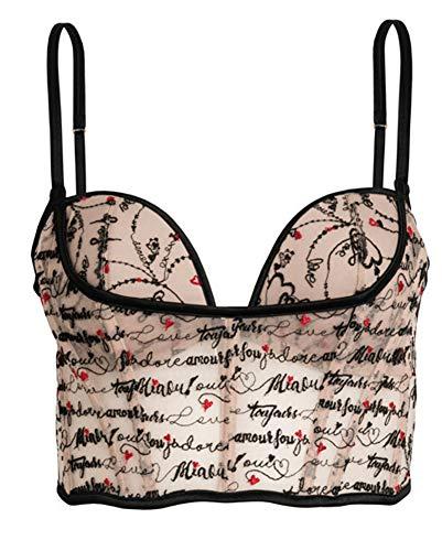 Victorias Secrets L'Amour Long Line Bra Corset Love Script 36 C Nude