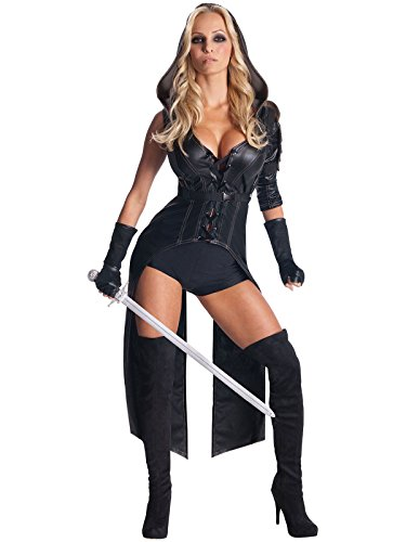 Secret Wishes Womens Sucker Punch Sweet Pea Costume, Black, Medium