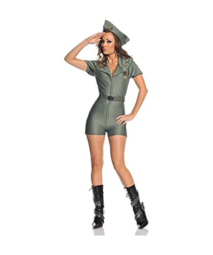 Attention Sexy Military Adult Costume Size 4-6 Small